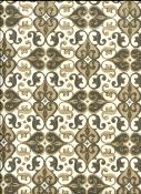 Arabesque brun beige et or, papier fantaisie indien