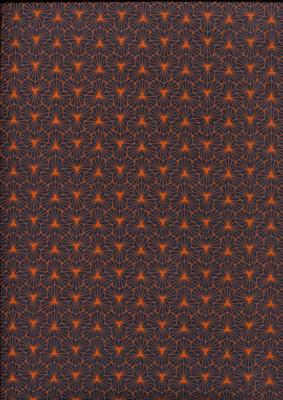luminescence orange, papier indien