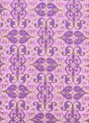 Arabesque vioiline et or, papier fantaisie indien